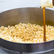Twirling Popcorns — Stock Photo