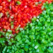 Green and Red Belll Peppers Cleaned and Washed as Cooking Ingred — Stock Photo