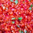 Red and some Green Belll Peppers Cleaned and Washed as Bacground — Stock Photo