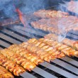 Cooking Adana Lamb Kebabs on the Restaurant Style Grill — Stock fotografie