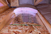 Insulation Stages of Attic — Stock Photo