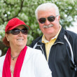 Easygoing Positive Senior Adult Couple in Sports — Stock Photo