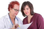 Female Doctor Discussing Ressults with Female Patient — Stock Photo