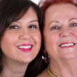 Senior Mother and Middle Age Daughter Cheek to Cheek — Stock Photo #36528171
