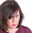 Middle Aged Woman Giving you very Analyitcal Look — Stock Photo