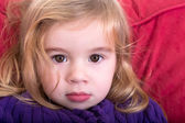 Beautiful innocent young girl — Stock Photo