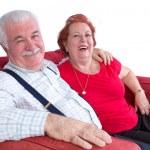 Joyful relaxed elderly couple — Stock Photo #38002025