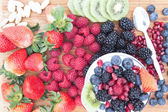 Delicious healthy berry fruit salad — Stock Photo