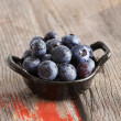 Stock Photo: Healthy ripe autumn blueberries