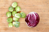 Radicchio with brussels sprouts — Stock Photo
