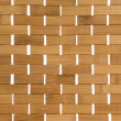 Woven bamboo mat background texture — Stock Photo