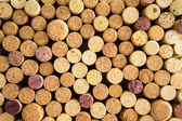 Background texture of neatly arranged corks — Stock Photo