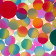 Colorful abstract of bicolour plastic balls — Stock Photo #45682353