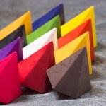 Vibrant multicolored wax crayons — Stock Photo #45682403