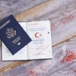 An American and Turkish passport — Stock Photo #45682953