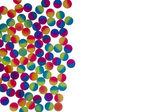 照光式二色プラスチック球の境界線 — ストック写真