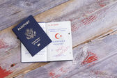 An American and Turkish passport — Stock Photo