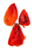 Colorful charred roasted red sweet pepper — Stock Photo