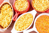 Conceptual above close view of cheese macaroni — Stock Photo