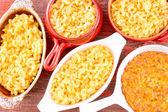 Conceptual above close view of cheese macaroni — Stock Photo