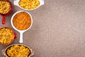 Cheese macaroni with copy space on the right — Stock Photo