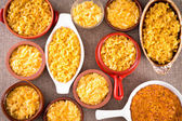 Conceptual above view of cheese macaroni served — Stock Photo