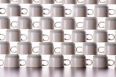 Abstract background of drying coffee cups — Stock Photo