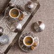 Traditional Turkish coffee for two — Stock Photo #48259365