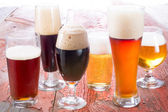 Variety of different beers — Stock Photo