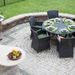 Elegant outdoor living space — Stock Photo #50886861