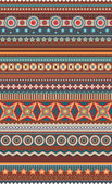 Ethnic various strips — Stock Vector