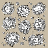 Set of Sale Nature vector Labels — Stock Vector