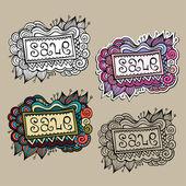 Set verkoop aard vector etiketten — Stockvector