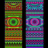 Abstract vector tribal ethnic background set — Wektor stockowy