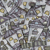 Cartoon houses seamless pattern — Vetorial Stock