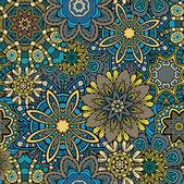 Patrón sin costuras floral ornamental — Vector de stock