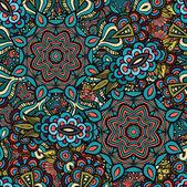 Vector decorative ornamental seamless pattern — Stock Vector