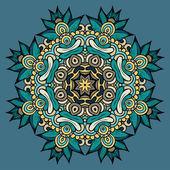 Cirkel dekorativa ornament — Stockvektor