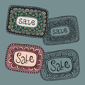 Beautiful decorative set of Sale Nature vector Labels — Cтоковый вектор