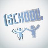 Vector Paper craft school sign design — Stock Vector