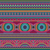 Abstract vector tribal ethnic background seamless pattern — Stock Vector