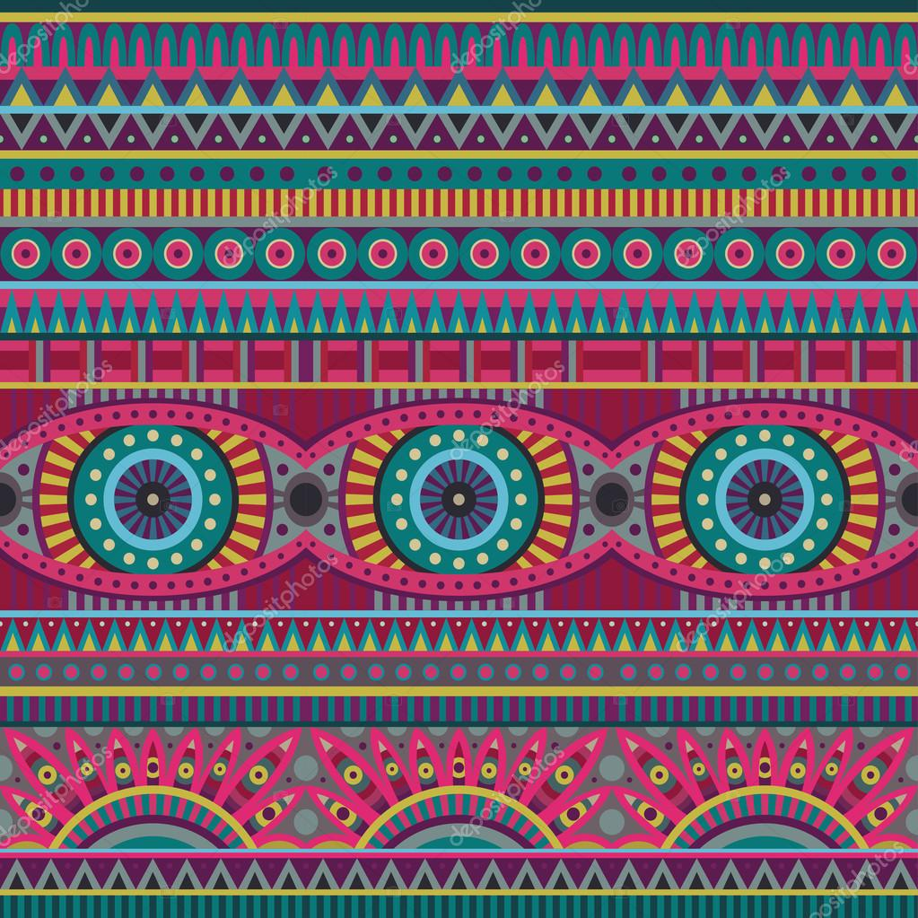 Abstract vector tribal ethnic background seamless pattern - Stock ...