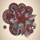Decorative vector floral vintage card design — Stockvektor