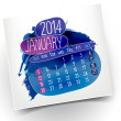 January month year 2014 vector Calendar — Stock Vector