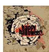 Abstract vector Halloween grunge design card — Stock Vector