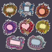 Sale special natures vector labels and stickers — Vettoriale Stock