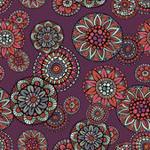 Ornamental vintage fantasy floral vector seamless pattern — Stock Vector