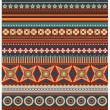 Ethnic various strips motifs in red colors background — Stock Photo #36648167