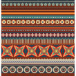 Ethnic various strips motifs in red colors background — Stock Photo