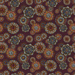Ornamental vintage fantasy floral seamless pattern — Stock Photo